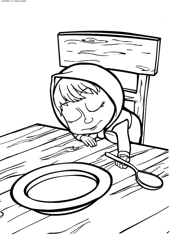 600x833 Masha And The Bear Coloring Pages Sleeping Masha