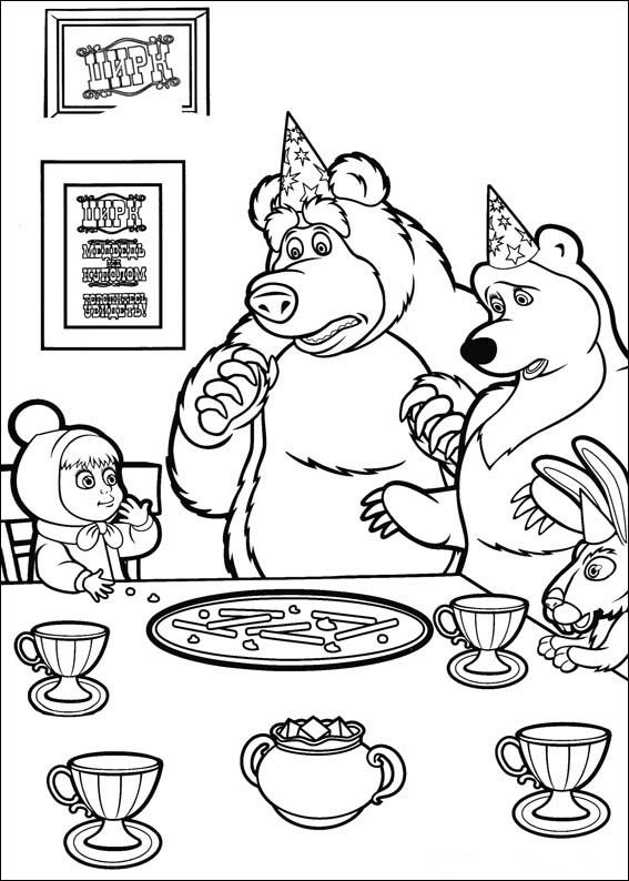 567x794 Masha And The Bear Coloring Pages Coloring Pages