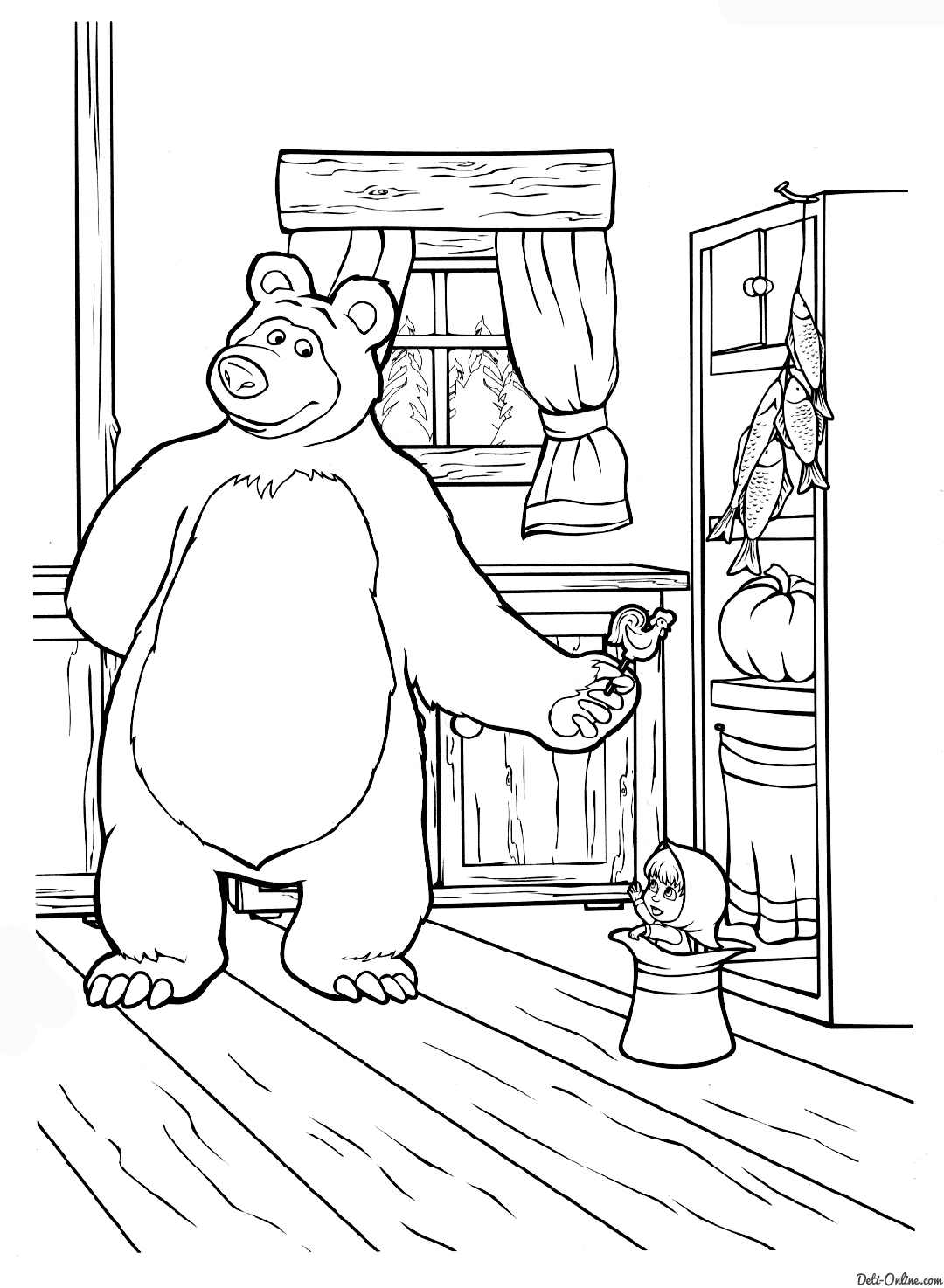 1080x1474 Printable Masha And The Bear Coloring Pages Print Color Craft