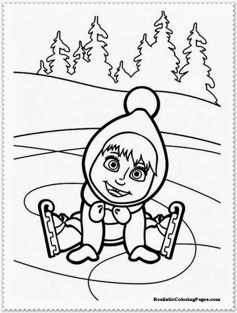 Masha And The Bear Coloring Pages At GetDrawings