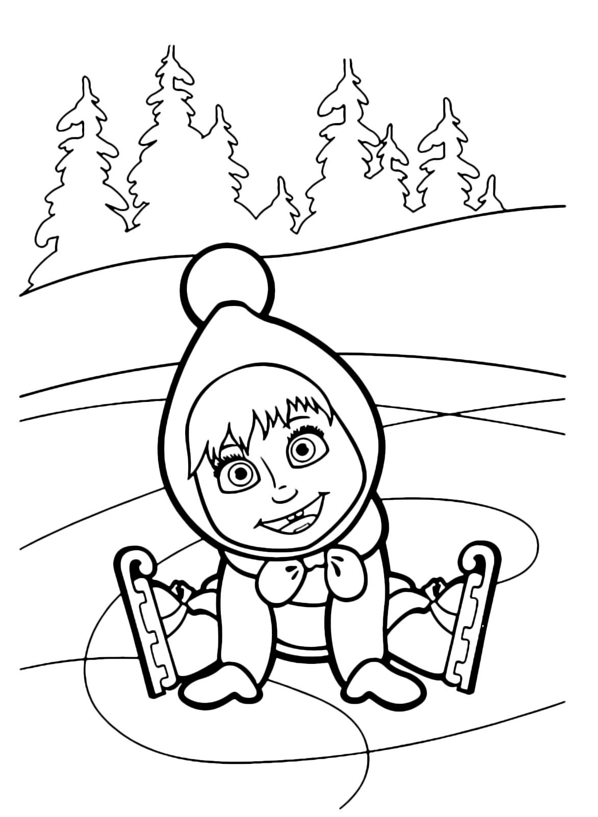 1172x1600 Masha And The Bear Coloring Pages Pictures Free Coloring Pages