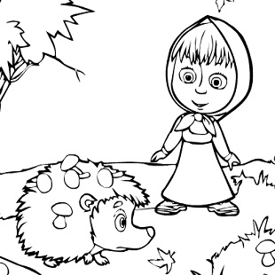 310x310 Top Masha And The Bear Coloring Pages Images Kids Pedia Live