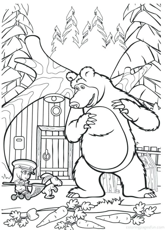 579x800 Masha And Bear Colouring Pages The Coloring Free