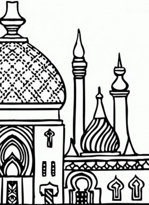 Masjid Coloring Pages