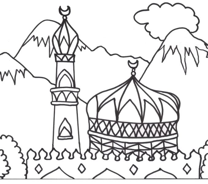 678x600 Exelent Muslim Coloring Pages Image
