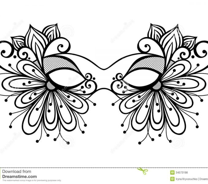 Masquerade Coloring Pages
