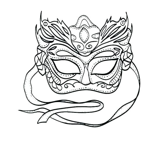 564x485 Masquerade Mask Coloring Pages Mask Coloring Page Mask Coloring