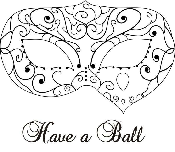 Masquerade Mask Coloring Pages