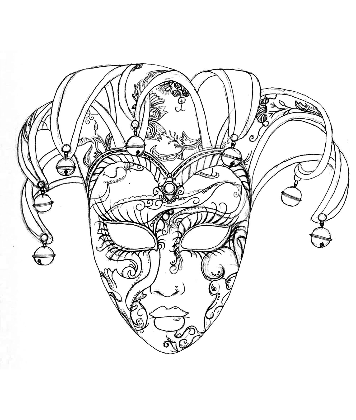 Masquerade Mask Coloring Pages At Getdrawings Free Download