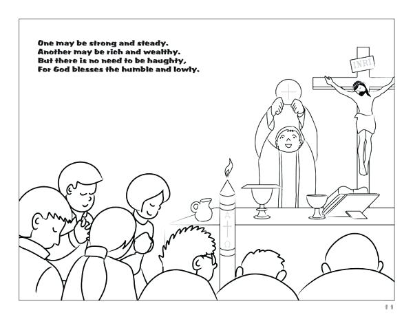 600x464 Catholic Mass Coloring Pages Catholic Coloring Pages Sunday Mass