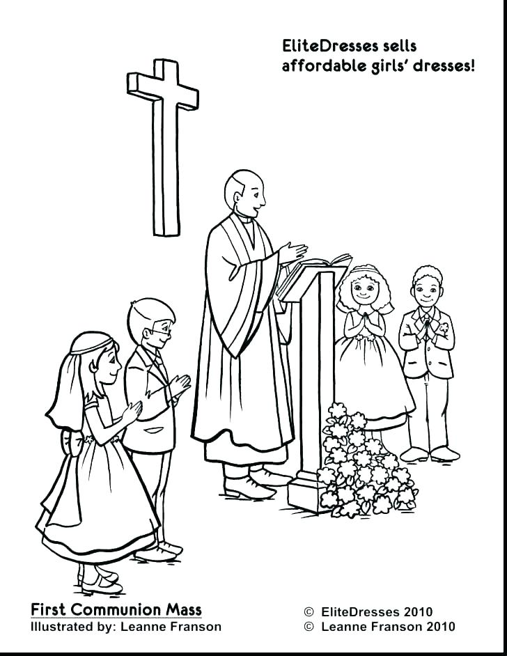 728x942 Free Catholic Coloring Pages Free Catholic Mass Coloring Pages