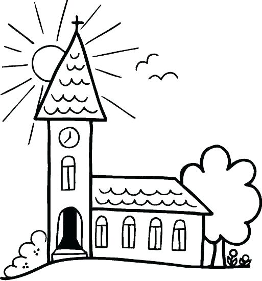 513x550 Catholic Mass Coloring Pages Church Coloring Page Astounding