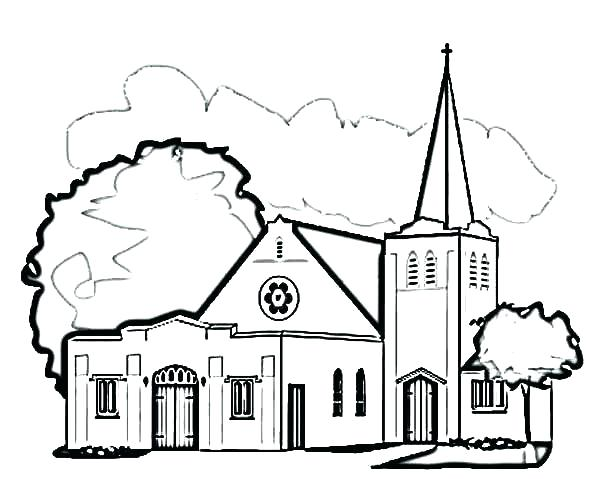 600x479 Catholic Mass Coloring Pages Coloring Pages For Church Church