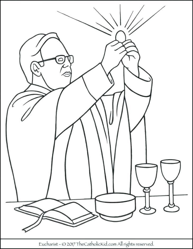 730x945 Mass Coloring Pages Catholic Mass Coloring Pages Growerland