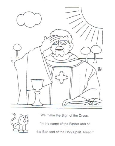 384x488 Parts Of The Mass Coloring Pages Catholic Mass Coloring Pages