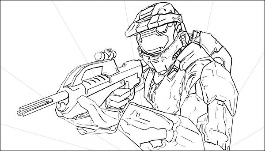 1024x583 Master Chief Coloring Page