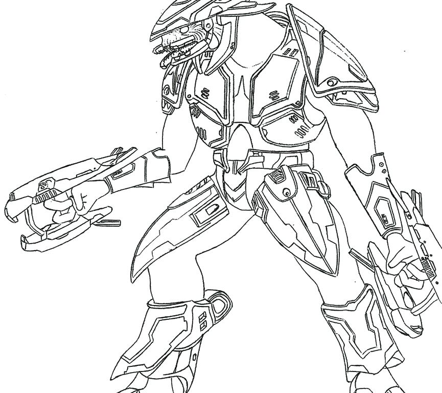 865x768 Master Chief Coloring Pages Fierce Halo Spartan Coloring Pages