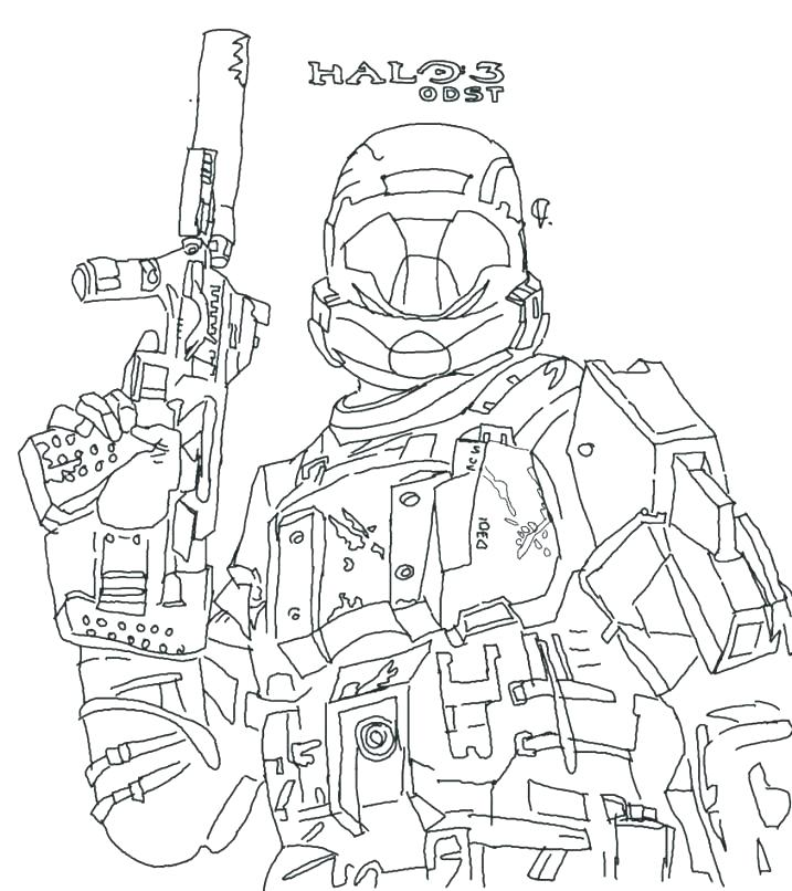 717x806 Master Chief Coloring Pages Halo Reach Coloring Pages Halo