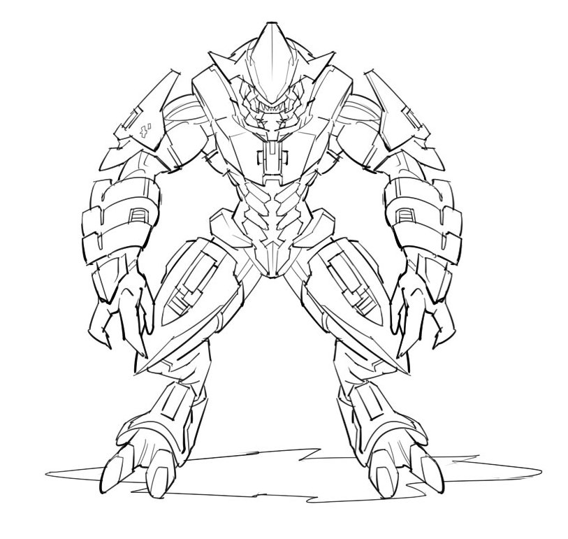 813x771 Master Chief Coloring Pages Many Interesting Cliparts
