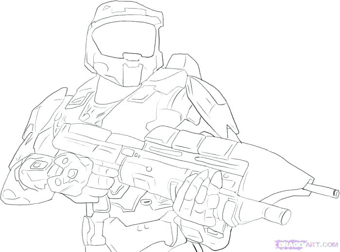 700x519 Master Chief Coloring Pages Master Chief A Be Able To Weapon