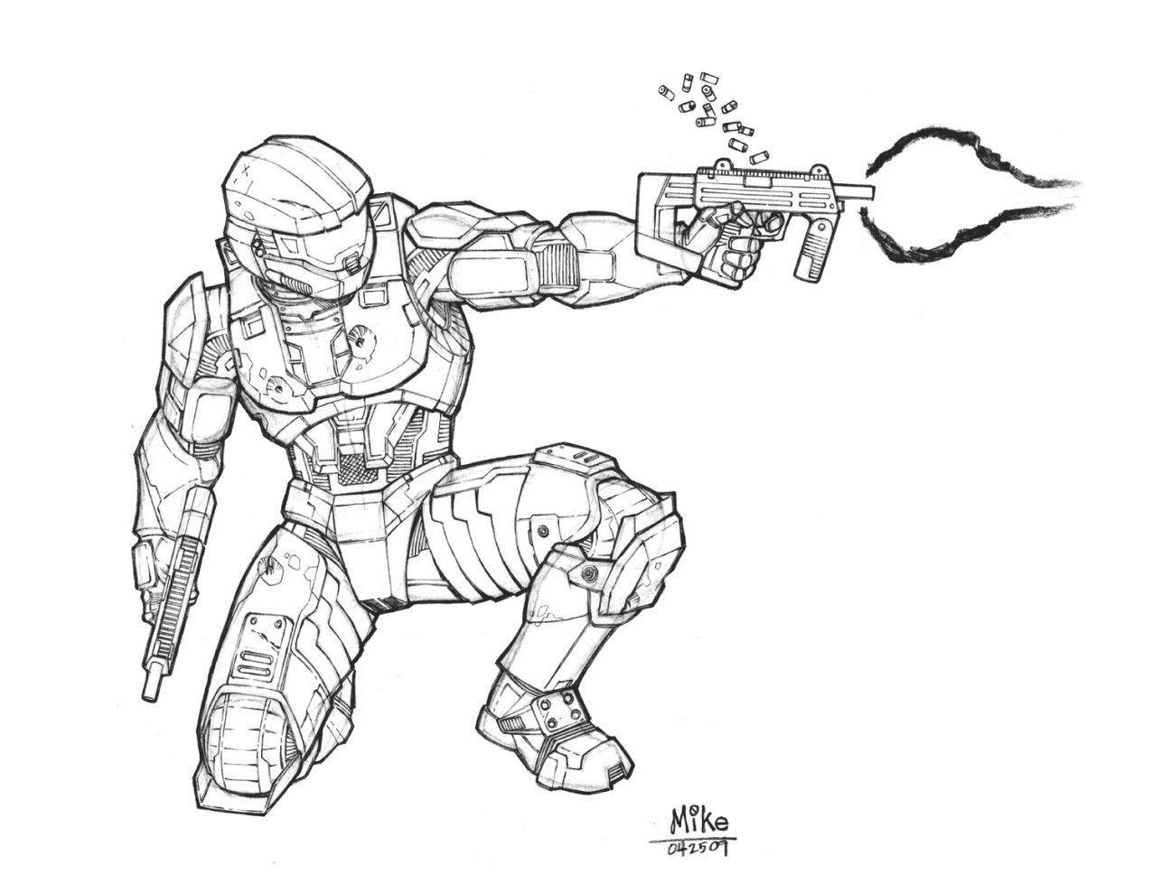1275x989 For Master Chief Coloring Pages