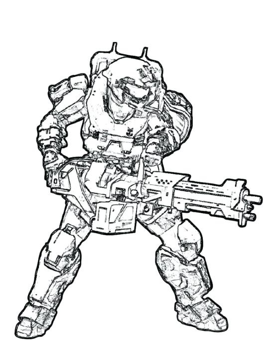 550x711 Stunning Appealing Halo Master Chief Coloring Pages Kids Picture