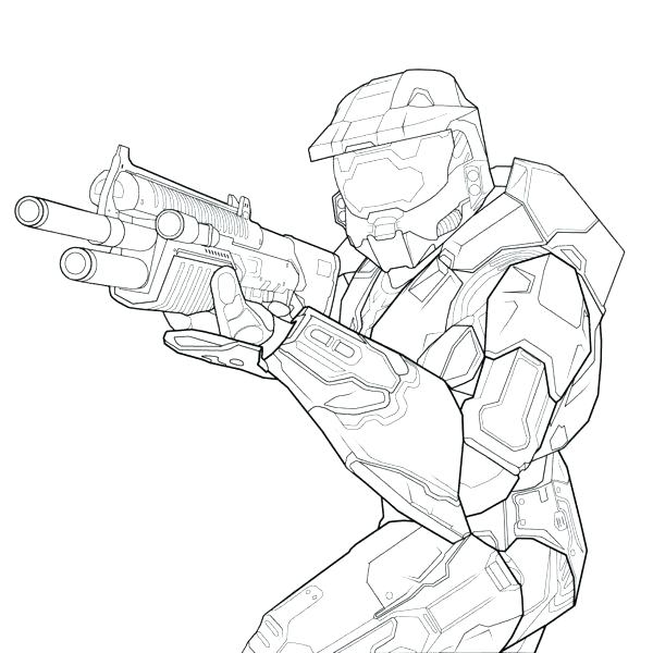 600x600 Halo Coloring Pages Halo Master Chief Coloring Pages Master