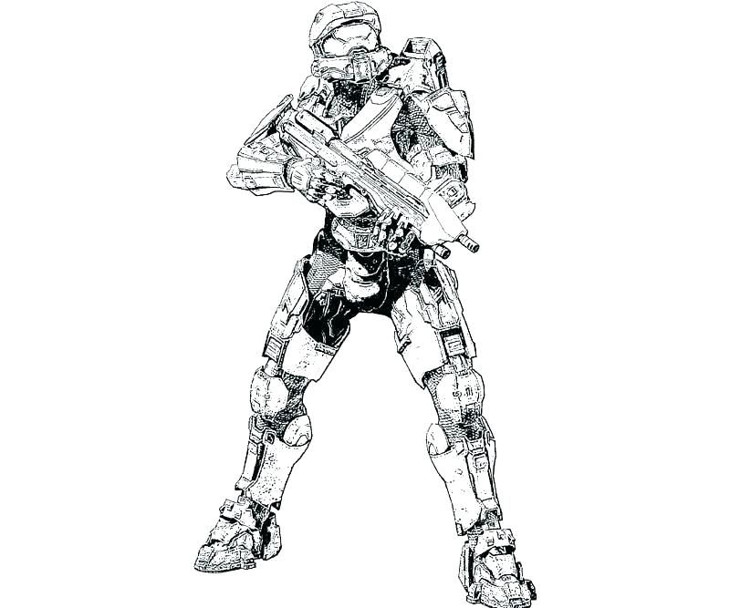 800x667 Halo Master Chief Coloring Pages Printable High