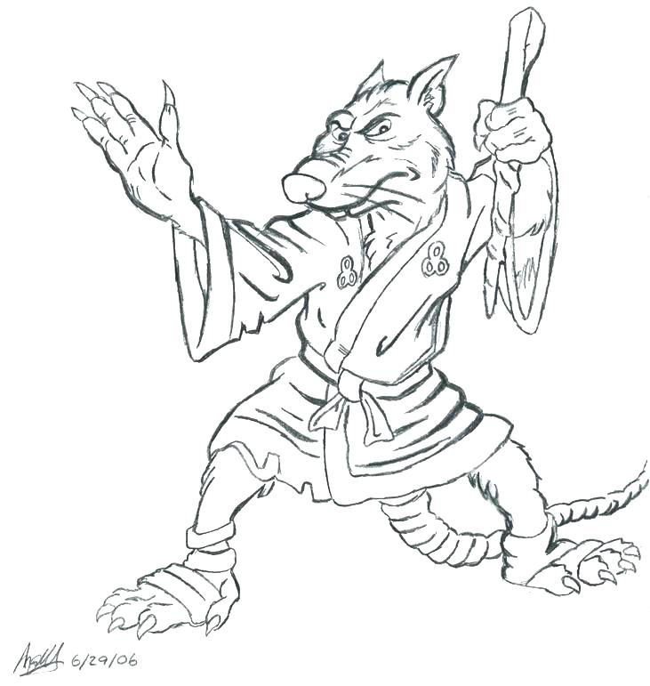 731x771 Master Splinter Coloring Pages Coloring Pages Disneyland