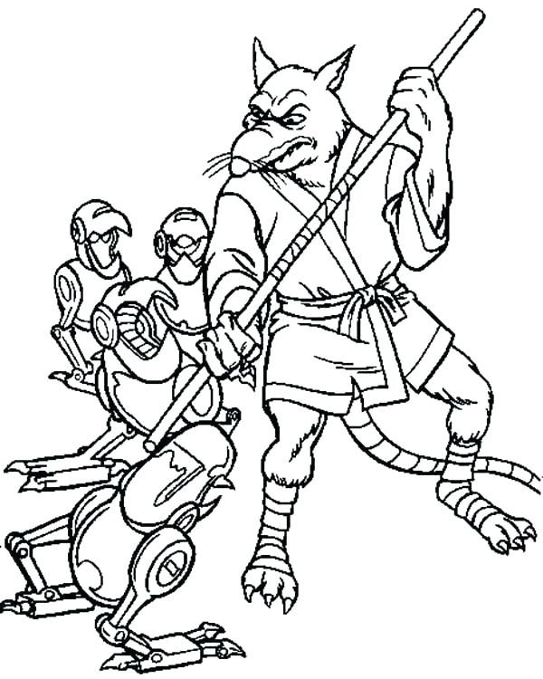 600x750 Master Splinter Coloring Pages S Coloring Pages For Adults Quotes