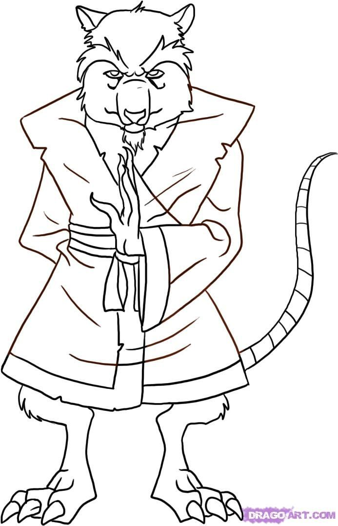 693x1078 Splinter Coloring Page