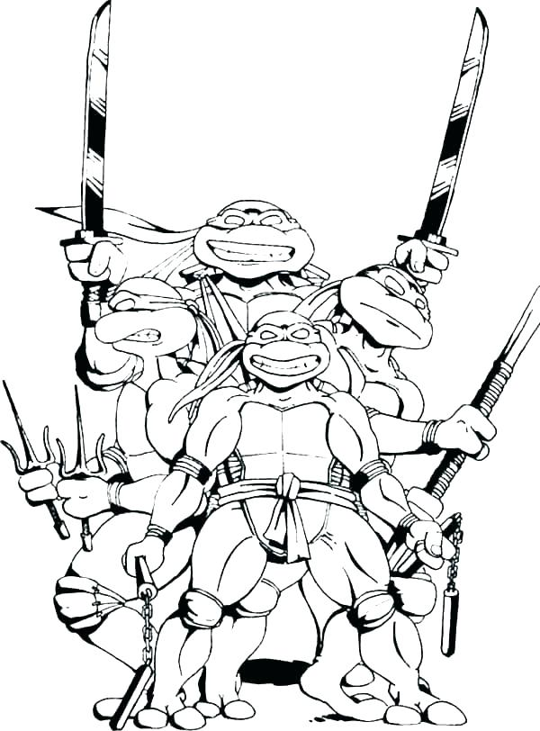 600x812 Coloring Pages Of Ninjas Turtles Coloring Pages Coloring Ninja