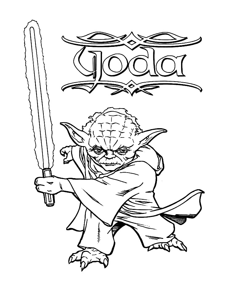 Master Yoda Coloring Pages