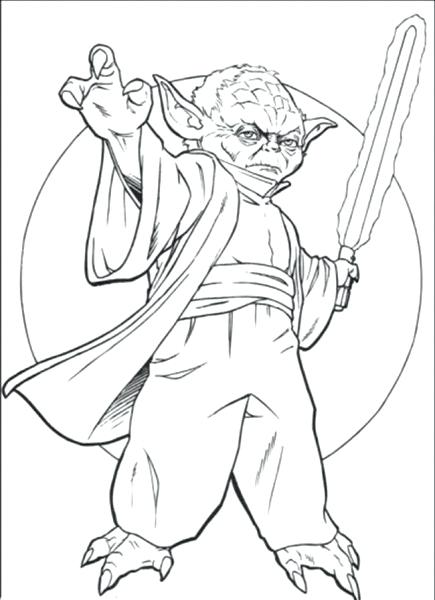 435x600 Yoda Coloring Pages Star Wars Battle Droids Master Yoda Coloring