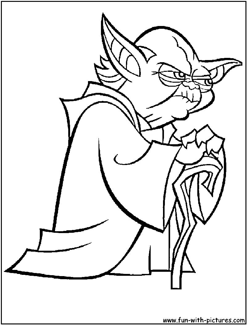 800x1050 Master Yoda Coloring Page
