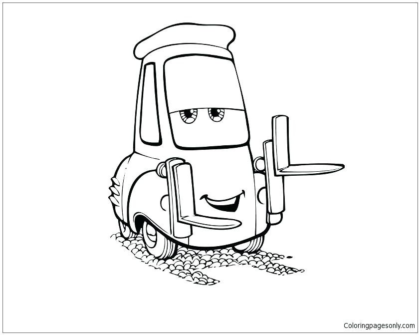 842x671 Mater Cars Coloring Pages Mater Cars Coloring Pages The Tow Mater