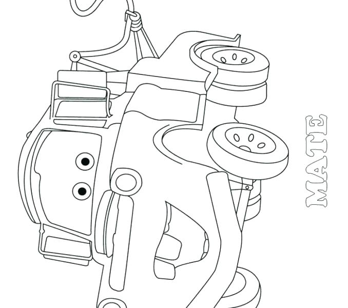 678x600 Mater Coloring Pages Mater Coloring Page Mater Coloring Pages Cars