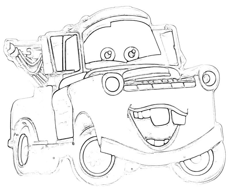 800x667 Cars Tow Mater Coloring Pages Coloring Pages Tow Mater