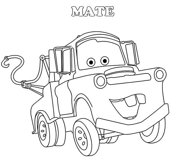 600x551 Mater, Drawing Tow Mater Coloring Pages Drawing Tow Mater