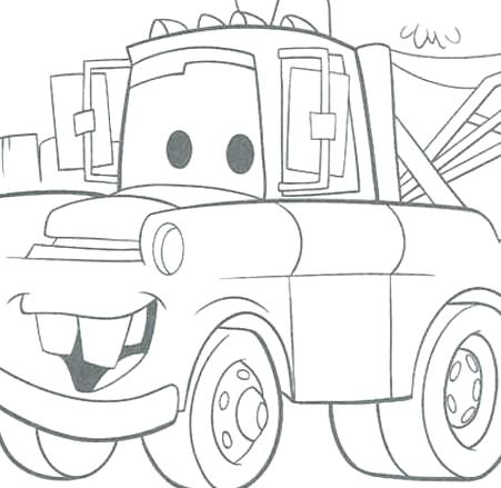 451x439 Mater Coloring Page Mater Coloring Page Mater Lightning Cars Movie