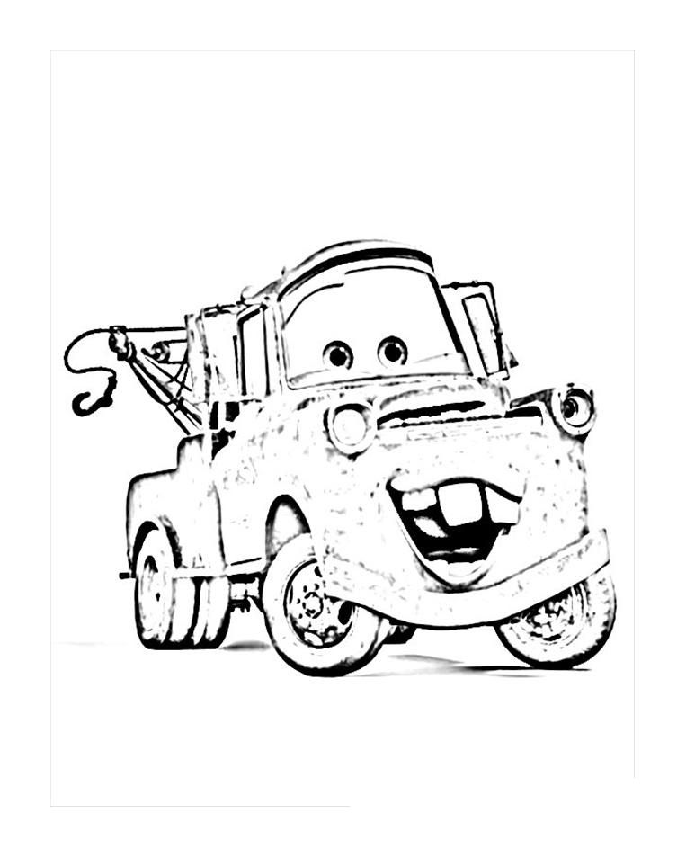 Mater Coloring Pages Free