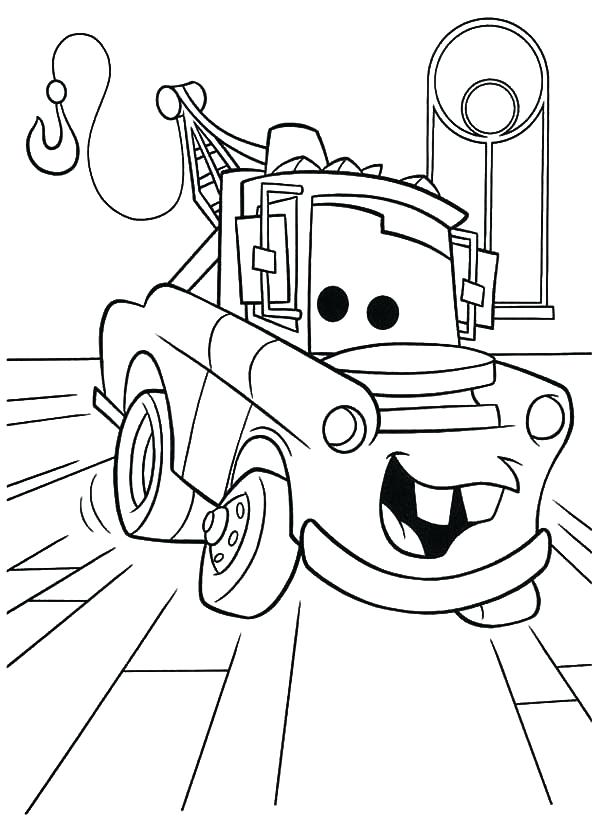 600x840 Coloring Pages Characters Cars Character Tow Mater Coloring Pages