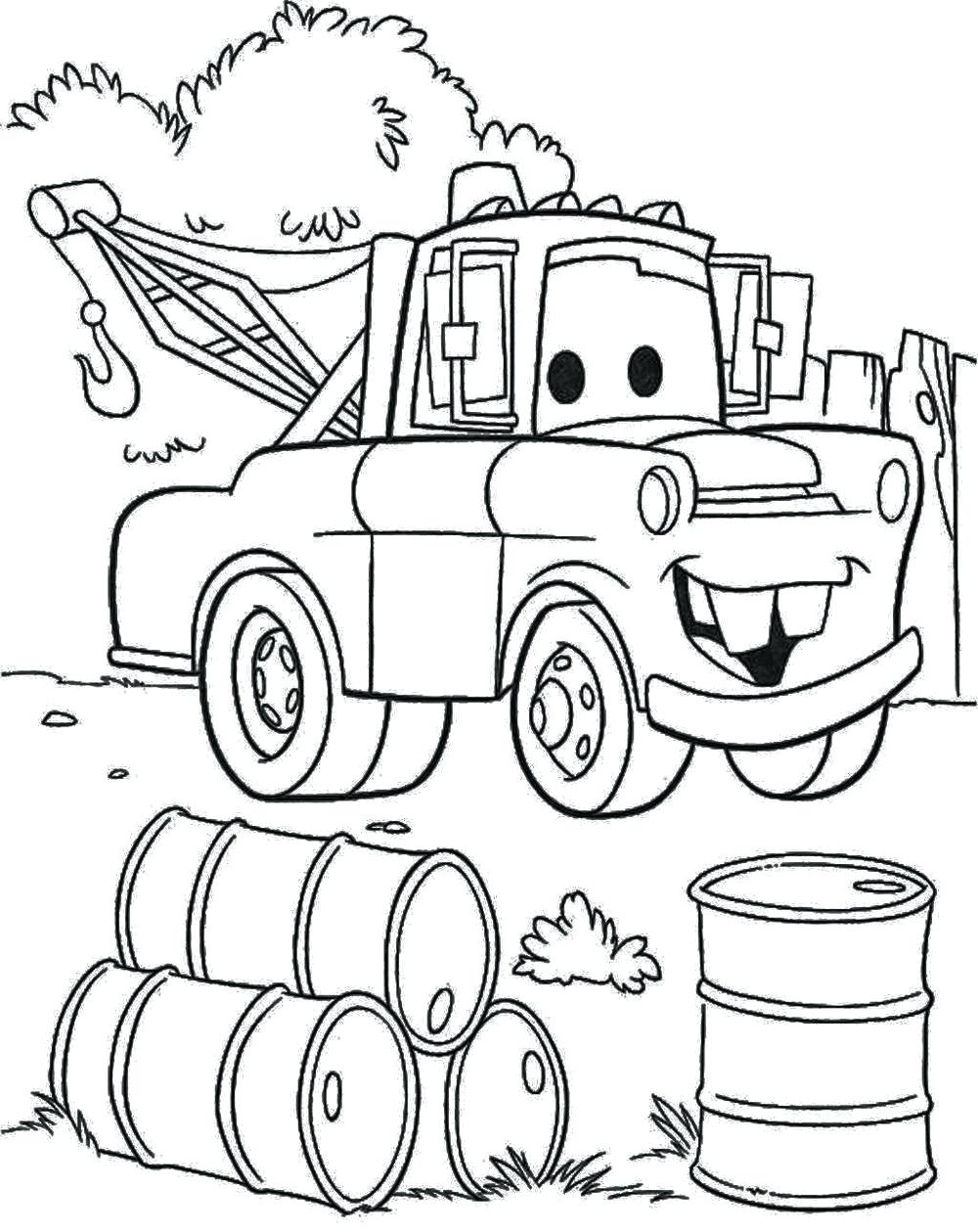 1000x1259 Awesome Coloring Pages Disney Mater Gallery Printable Coloring Sheet