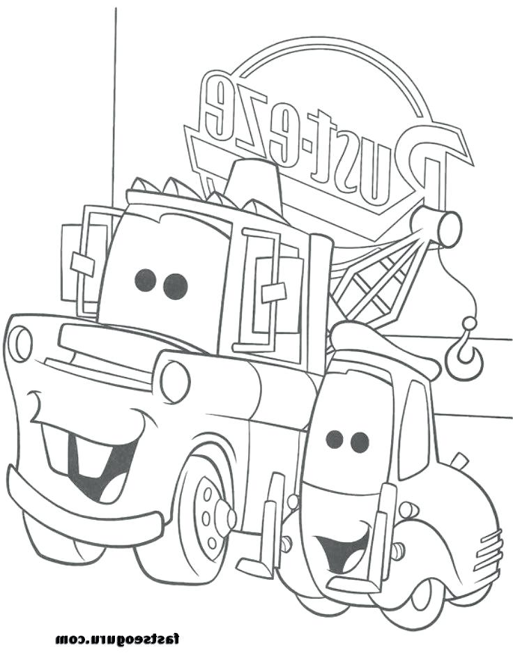 736x944 Lovely Mater Coloring Pages In Free Book With Lightning Mcqueen