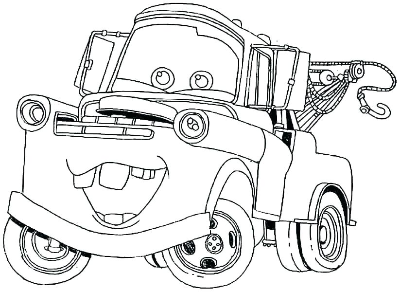 823x600 Mater Coloring Page Mater Coloring Pages Free To Print For Books