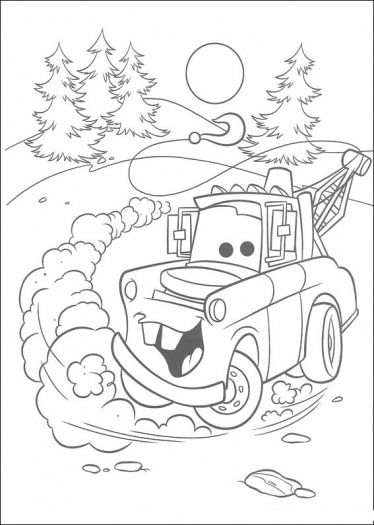 374x525 Mater Going Backwards Coloring Pages Coloring