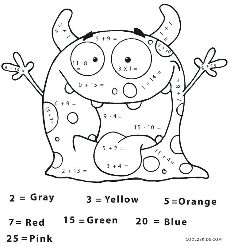 750x800 Halloween Coloring Pages With Math Math Coloring Pages Halloween