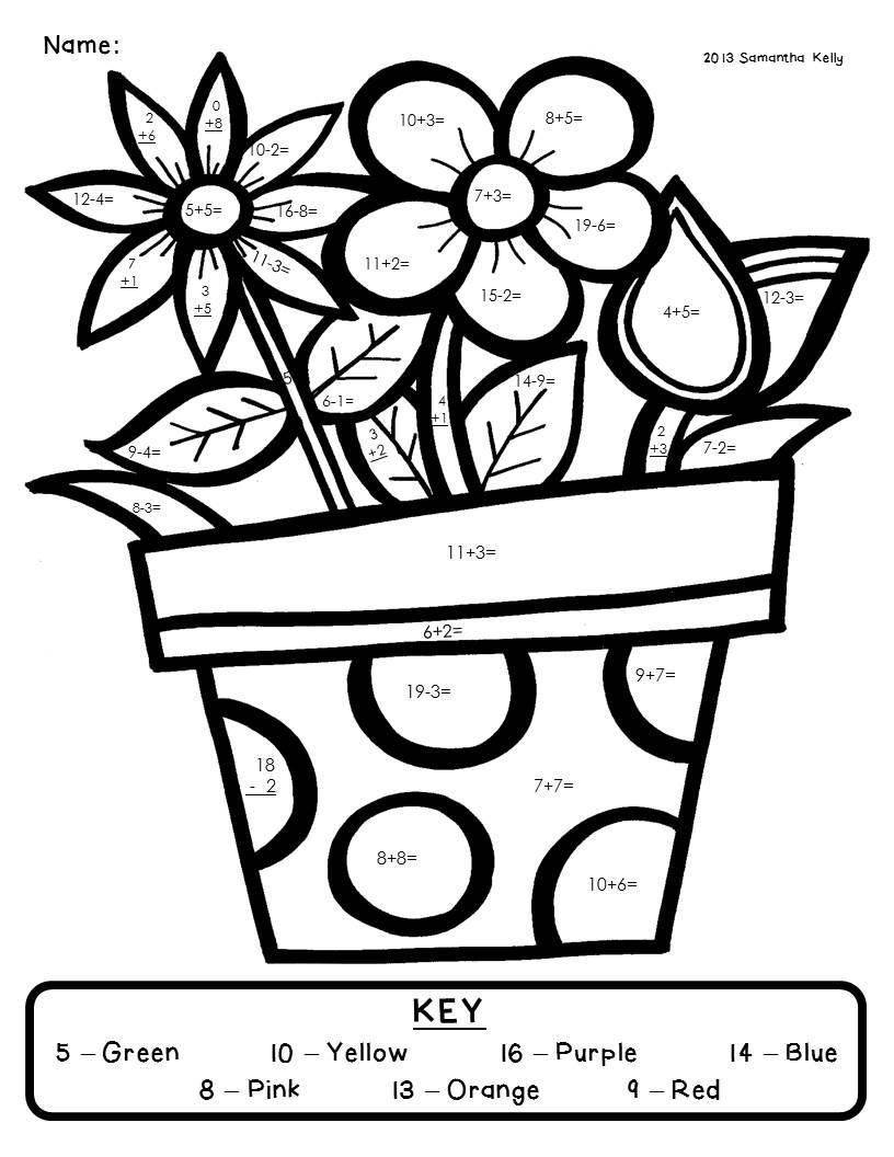 816x1056 Innovative Math Coloring Pages For Grade A Unknown