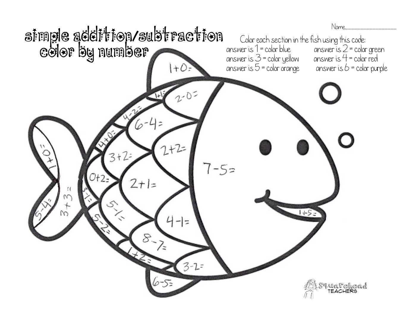 Math Facts Coloring Pages