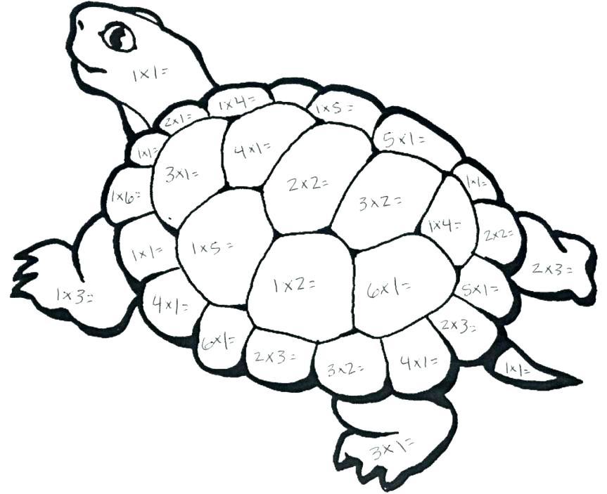 863x703 Math Coloring Worksheet